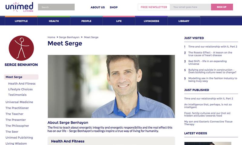 Serge Benhayon Unimed Living